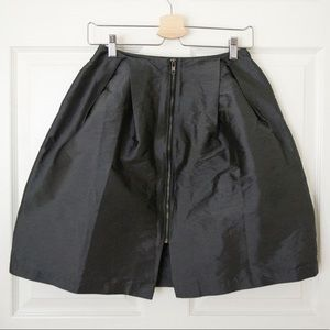 Topshop | Gunmetal Grey Full Skirt